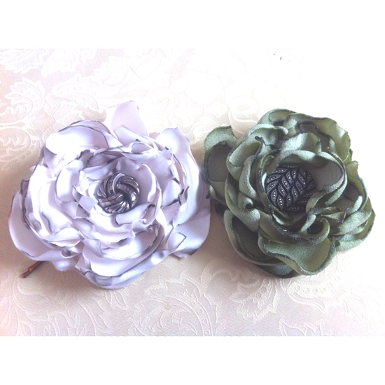 Handmade Fabric Flowers #hairpieces