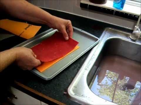 Basic handmade Paper Making using Shamwow instead of couch
