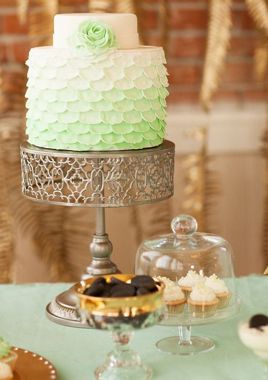 Mint and gold wedding ideas #Romantic Life Style