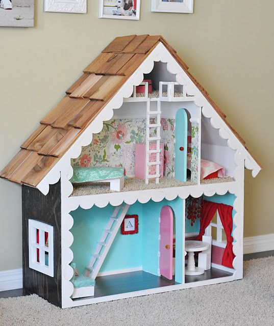 doll house- love! wow! i have a doll house frame hidden in the basement right now for Gabriella.  I just haven't designed it yet!