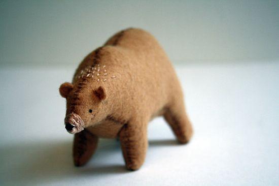 blonde bear.