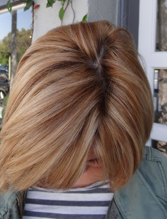 like the strawberry blond w/ the blond. Wonder what this color would look like on me? Ive always had brown