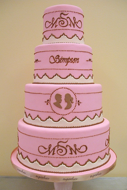 Monogram Wedding Cake #dental #poker