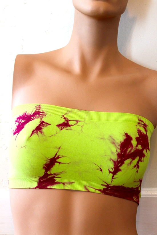 Neon-Dyed Bandeau.