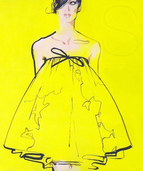 Work by fashion illustrator David Downton.