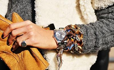 Love bracelets.