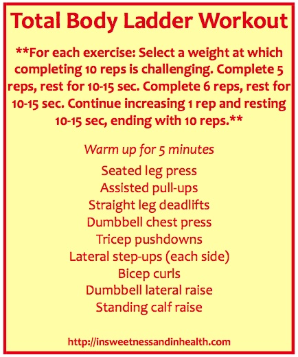 Total Body Ladder Workout #fitfluential
