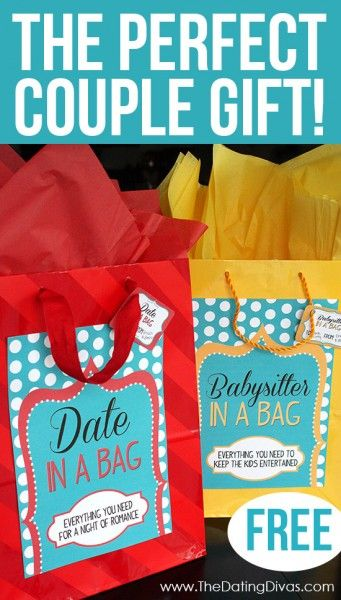 """This would make a great #anniversary #gift for our married friends.  Especially if the """"Babysitter in a Bag"""" came with a homemade gift certificate for a free night of babysitting!"""