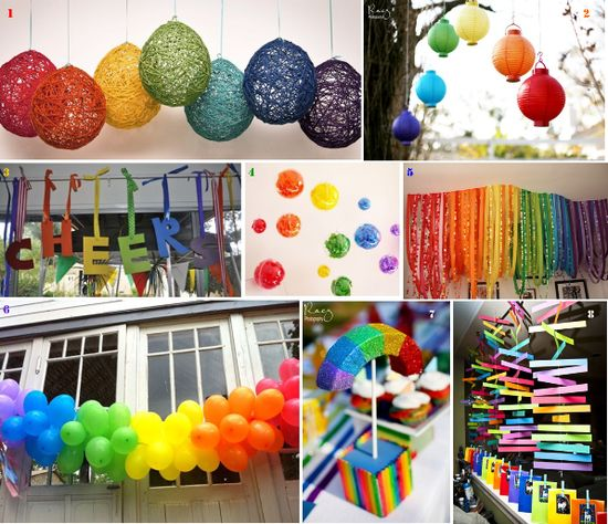 Fantastic rainbow decorations
