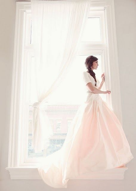 Blushing bride #pink #wedding #ido #inspiration #dress