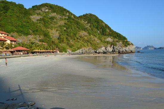 beach resort in halong bay of vietnam