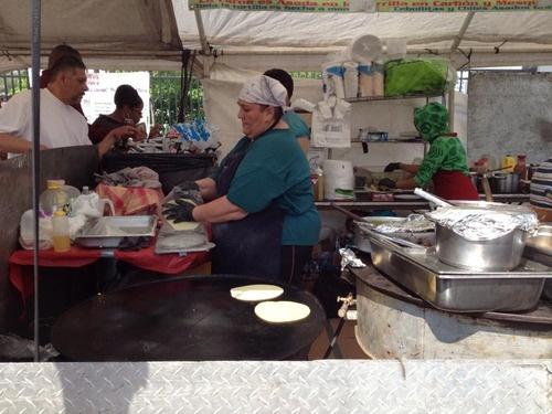 We had tacos on handmade tortillas at Maxwell Market.