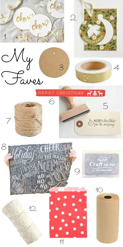 some gift wrapping favourites