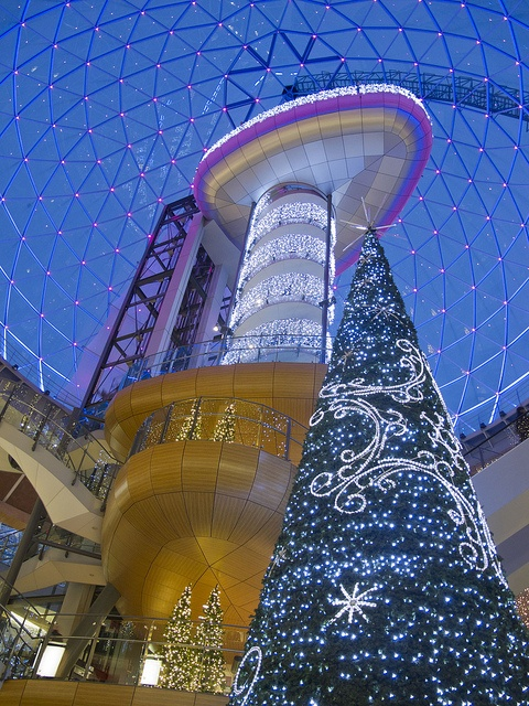 Christmas  tree in Victoria square Belfast, Northern Ireland