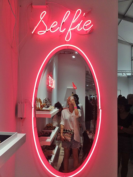 Selfie opp at Scope art show, Miami Beach Art Basel