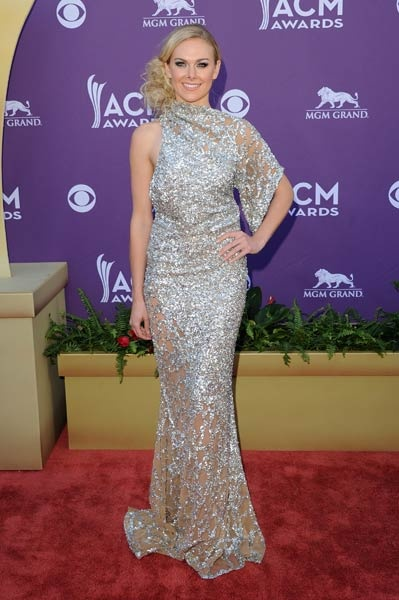 Laura Bell Bundy on the red carpet at the 2012 ACM Awards.