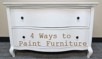 4 different methods for painting furniture