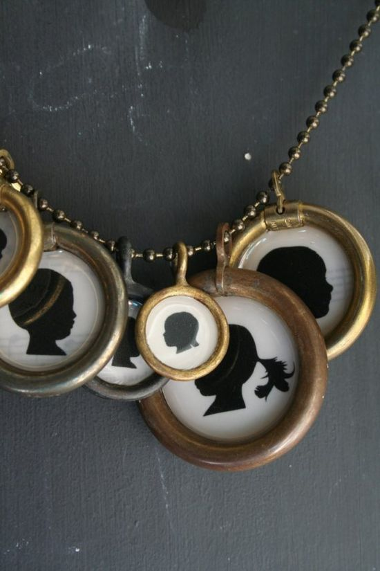 framed silhouettes necklace {lucky me beads}