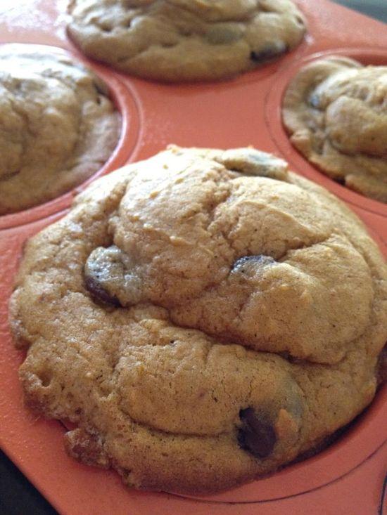 Pumpkin Chocolate Chip Chobani muffins.