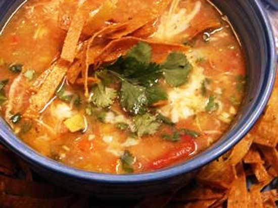 Slow Cooker Chicken Tortilla Soup - 4 Points +
