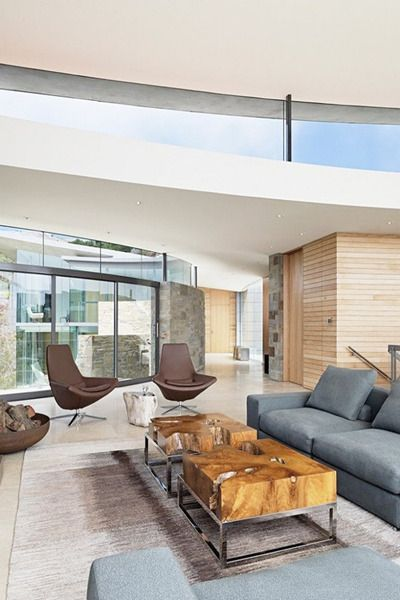 Otter Cove Residence gripping the cliffs of Carmel designed by Sagan Piechota Architecture #interior #design #decorating #decor