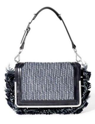 50 Dream Handbags: Theyskens' Theory Small Tassel Flap Bag, $895, #handbags, #handbags galore, #purse, #clutch, #shoulder bag, #evening bag, #designer bags, #valentino bags, #party bags, #fluffy bags,