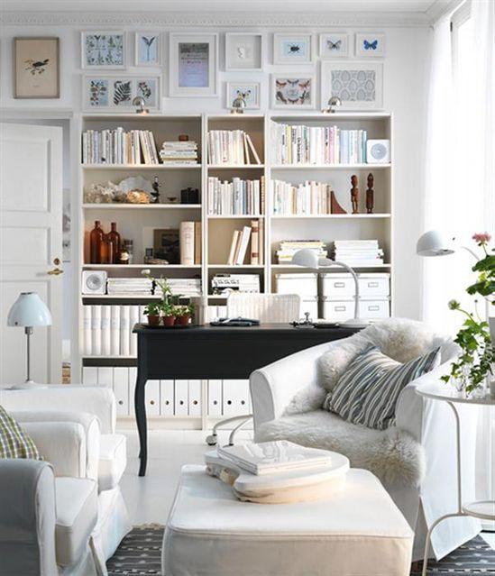 white + more white living room/office