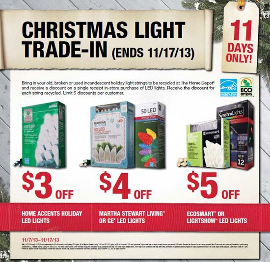Home Depot's Christmas Light Trade-In Event