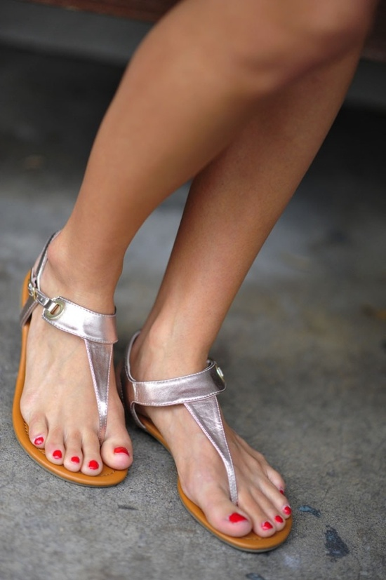 Styling with Silver… silver sandals
