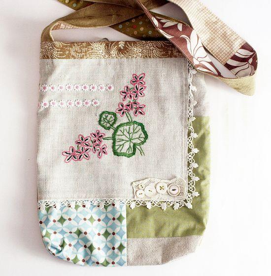 Vintage Linen hip bag!!!
