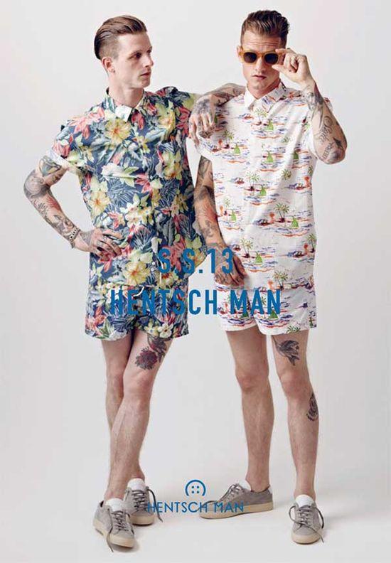 Hentsch Man – Spring Summer floral shorts for men 2013
