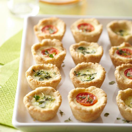 Mini Party Quiches via BHG