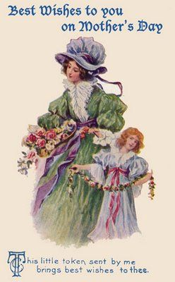 Best wishes to you on Mother's Day. #Victorian #vintage #Mothers_Days #cards