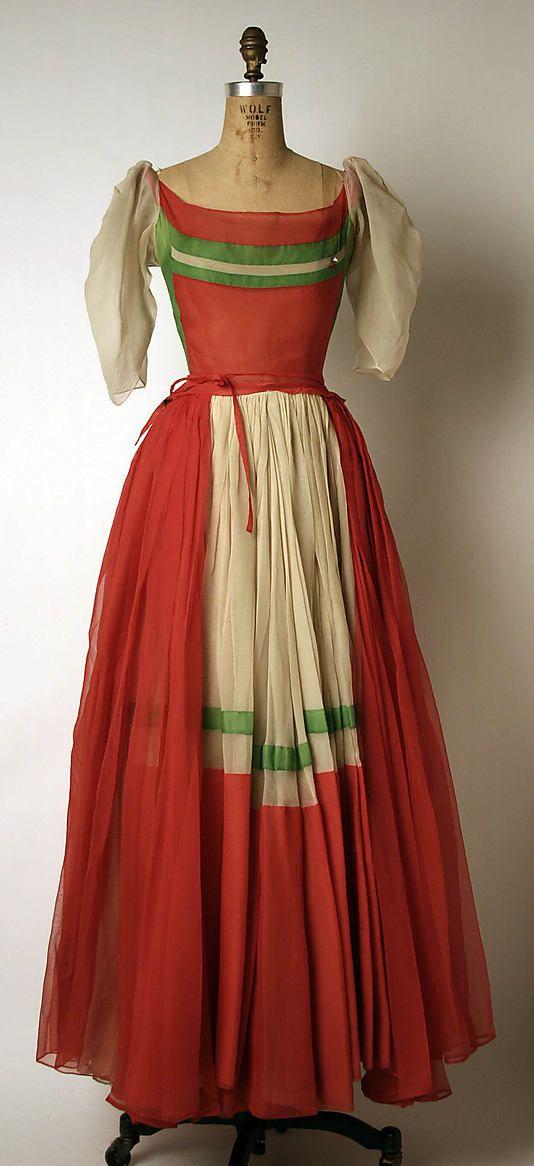 Dress, Evening  Madame Grès (Alix Barton) (French, Paris 1903–1993 Var region)  Date: 1948–49 Culture: French Medium: silk