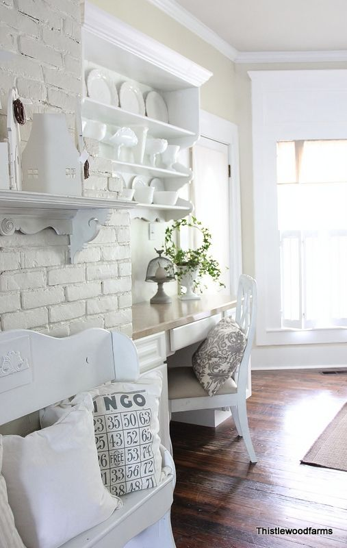 I think I have a new home design crush: Thistlewood Farm.  :) but add some wood and a little sage green