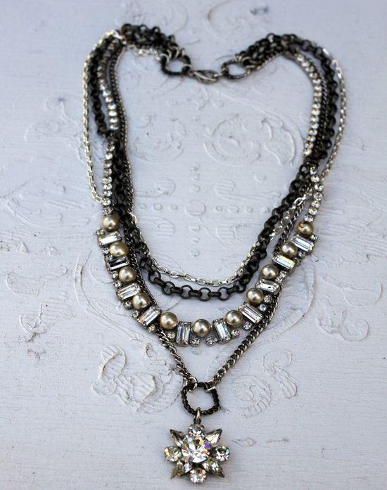 Vintage Rhinestones and Pearls~