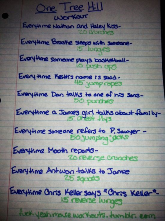 One Tree Hill workout!!  Want to see more workouts like this one? Follow us here.