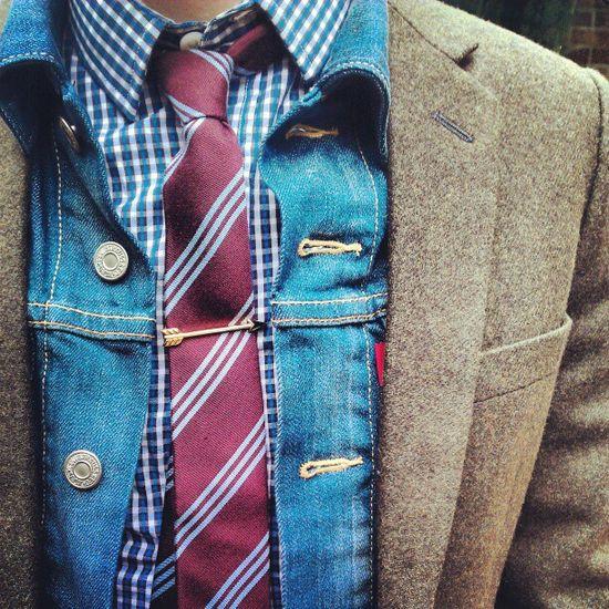 cool layering - Mens fashion / mens style