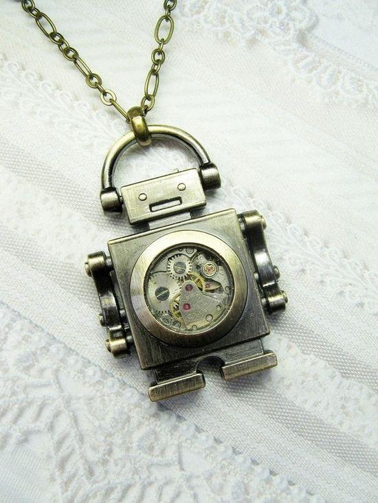 Robot Necklace... Genius.