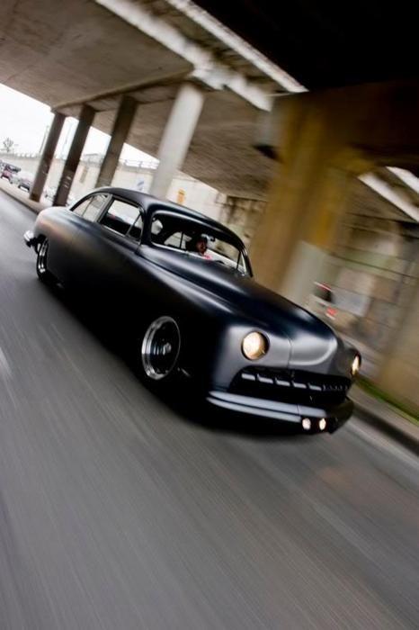 matte black 1950's lincoln