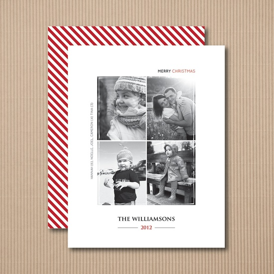 Editorial Christmas Card - Multi Photo Holiday Christmas Cards or magnets - 10. $12.49, via Etsy.