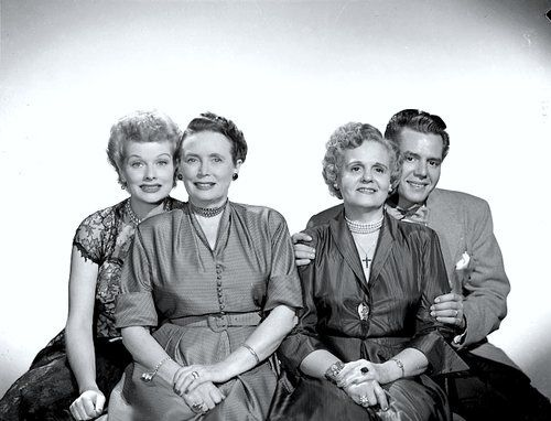 Lucy, Desi and their Mothers......sweet......
