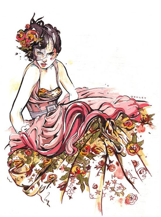 Dior fashion illustration by jacquioakley.etsy...