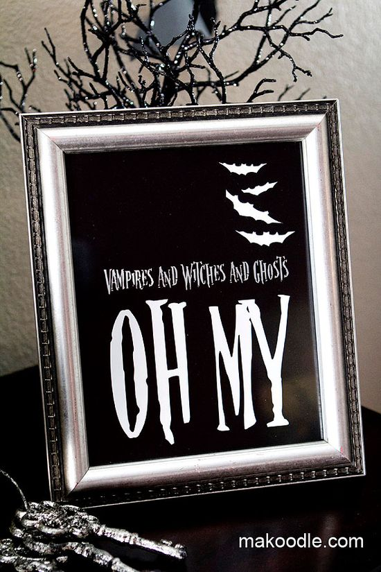 Halloween Printable Decoration - Vampires and Witches and Ghosts OH MY