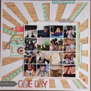 #papercraft #Scrapbook #layout   One Day by emkay5 at Studio Calico