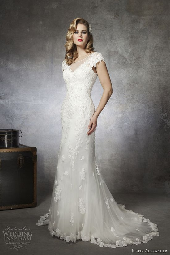 justin alexander wedding dresses spring 2013 lace mermaid gown