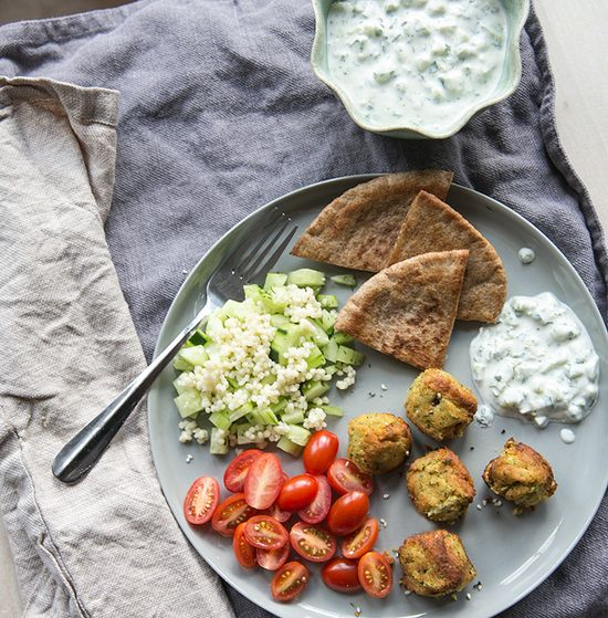 falafel + herbed tzatziki - what's cooking good looking - a healthy, seasonal, tasty food and recipe journal