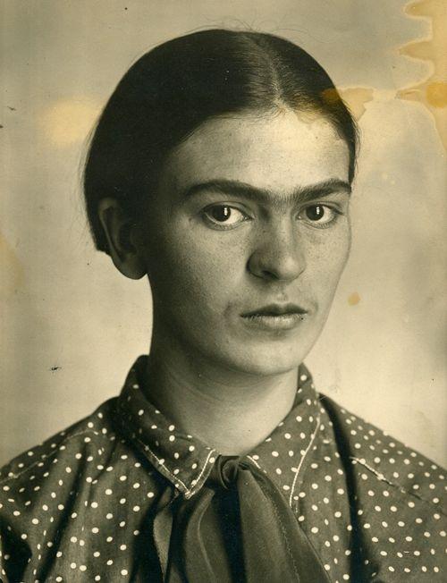 Frida circa 1926, photo taken by her dad Guillermo