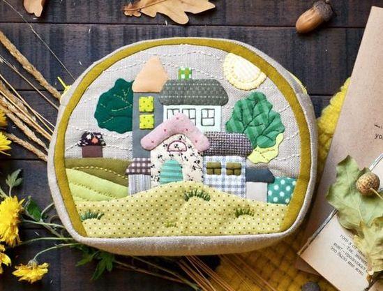 Patchwork quilt zipper handmade cosmetic pouch - #cosmetic #handmade #patchwork #pouch #quilt #zipper