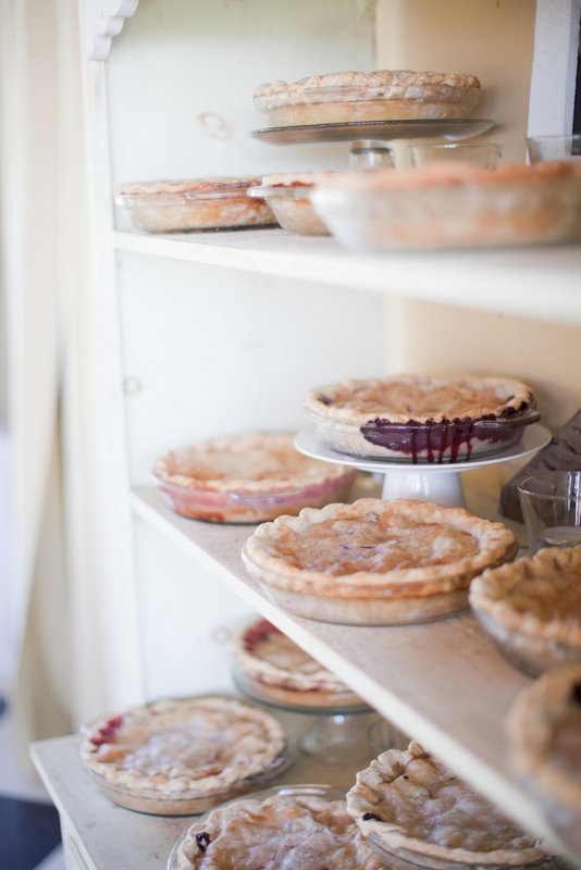 No cake. It's pies for the farm wedding. Best!
